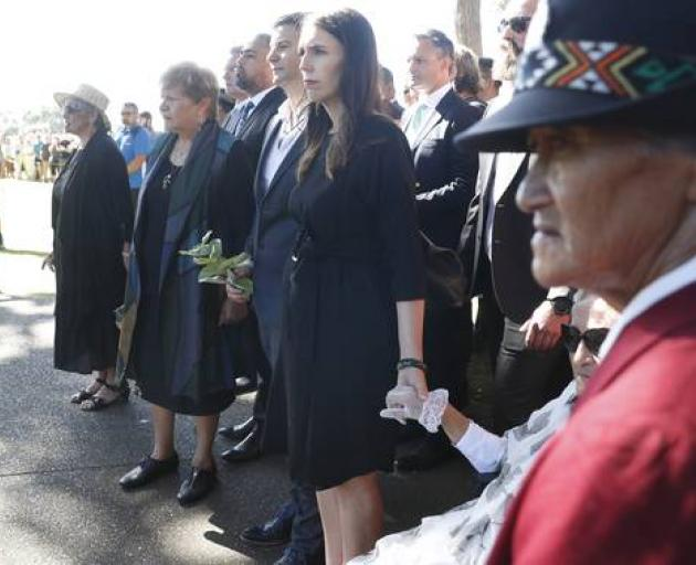Jacinda Ardern was welcomed onto the marae after spending three days in Northland. Photo: NZ Herald