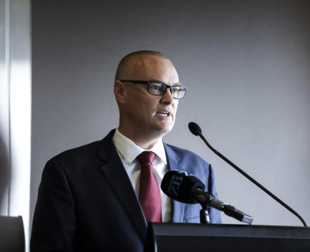 Health Minister David Clark at today's announcement. Photo: RNZ