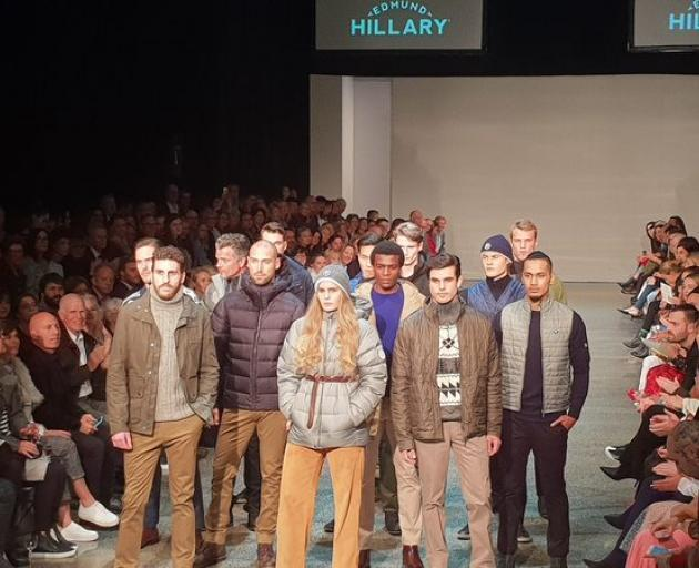 Sir Edmund Hillary's grandchildren George (left), Lily and Alexander at New Zealand Fashion Week...