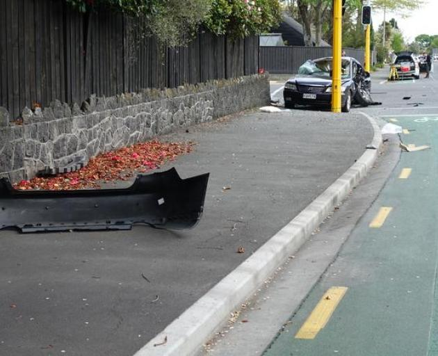 The scene of the crash yesterday. Photo: RNZ