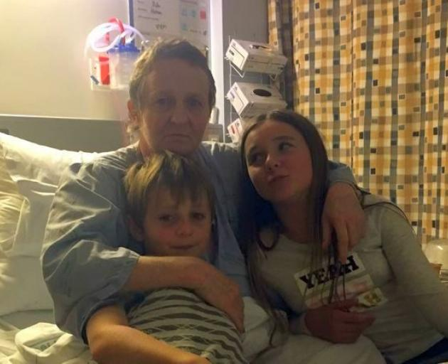 Cancer patient Patricia Tear with son Riley, 9,and Ruby, 11. Photo: RNZ