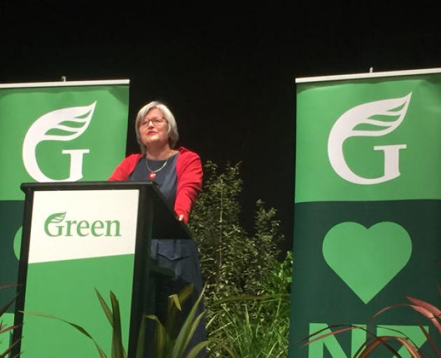 Eugenie Sage speaking at the conference this morning. Photo: RNZ