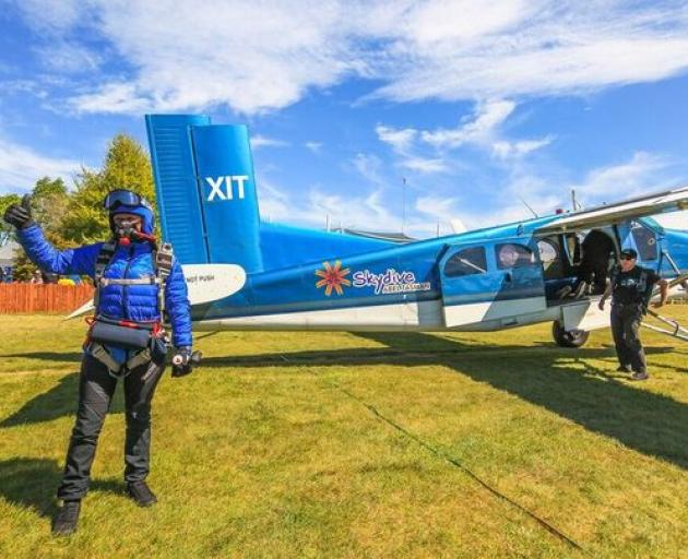 Wendy Smith jumped from a Swiss-made, Pilatus Porter turboprop aeroplane at 25,000 feet above...