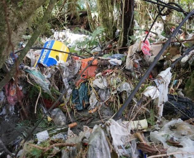 West Coast rubbish spill Photo: South Westland Coastal Cleanup