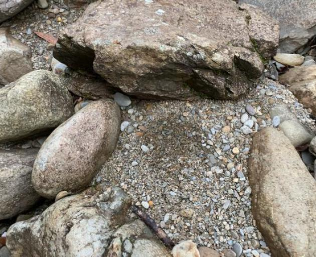 A footprint in gravel helped lead searchers to the missing trampers in Kahurangi National Park....