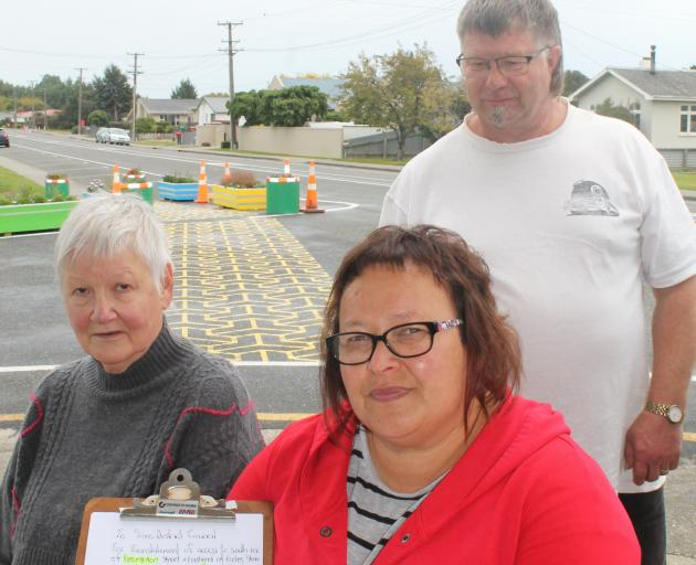Mary Kennedy (left), Tanya Scoles and Bing Scoles are unhappy with the changes made in west ...