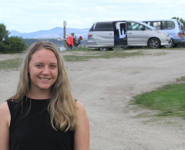 Waitaki district councillor Melanie Tavendale at Campbells Bay earlier this year. Photo: Hamish...
