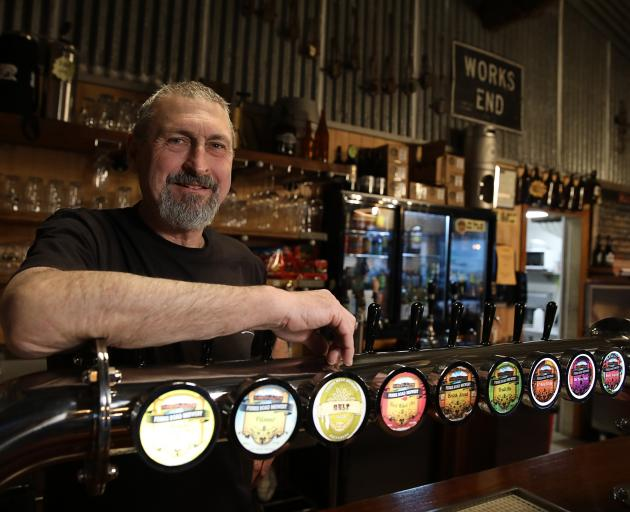 Ferris Road Brewery owner Sam Forsyth talks beer. PHOTO: JAMES JUBB