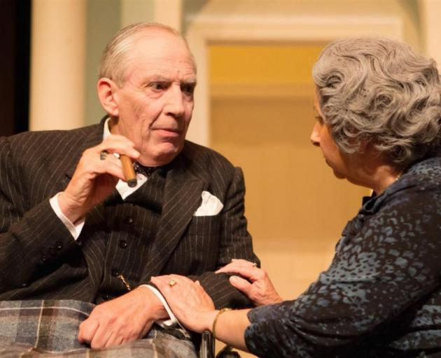 The ''imagined'' family gathering of the Churchills is portrayed in Winston's Birthday, featuring Geoffrey Heath as Sir Winston Churchill and Yvonne Martin as Lady Clementine Churchill. PHOTO: SUPPLIED