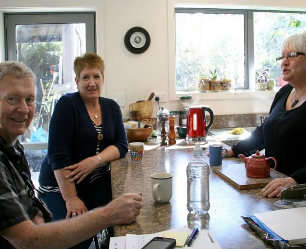 Peter (left) and Francie (right) with carer Rachel Greer  in the renovated self contained flat in the Diver home. Photo by Liam Cavanagh.