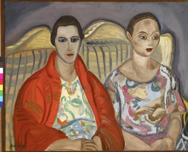 Double portrait, 1922, by Frances Hodgkins, oil on canvas.