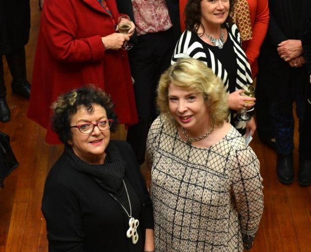 Columba College Business Hall of Fame inductees are Moira Rayner (left) and Catherine Taylor. Photo by Peter McIntosh.