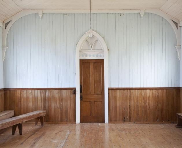 """Church Extension, Pukeawa Hall, South Otago (2012)"", by Samantha Matthews"