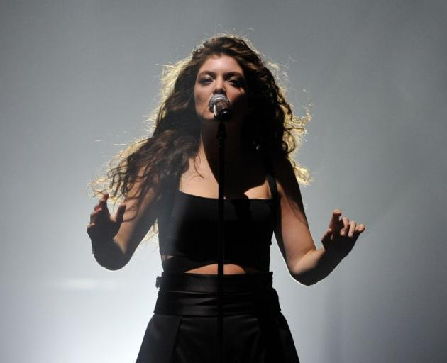 Lorde wows the crowd in the Dunedin Town Hall last night. Photo by Gregor Richardson.