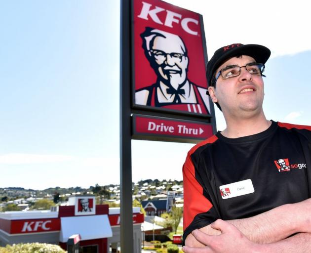 Fast-food worker David Cannon has experienced the pitfalls of casual work. PHOTO: PETER MCINTOSH