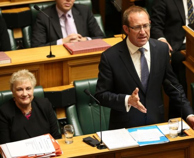 Andrew Little (right) with deputy leader Annette King in the House today. Photo: Getty Images