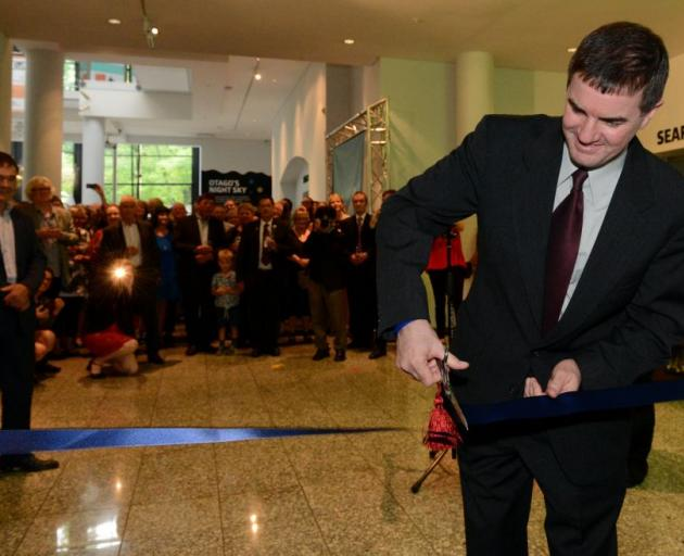 Nasa astronaut Col Rex Walheim (retired) cuts the ribbon at the museum's new $1 million Perpetual Guardian Planetarium. PHOTO: LINDA ROBERTSON