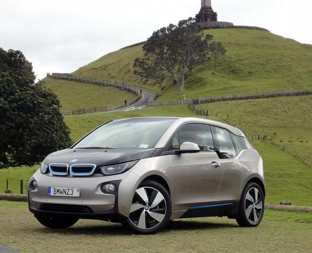 The New Zealand Car of the Year 2015, the BMW i3, which is on Transport Minister Simon Bridges' shortlist. Photo: supplied