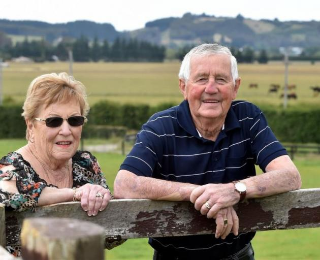 Brian and Lorraine Anderton at home at their North Taieri property. Photo by Peter McIntosh