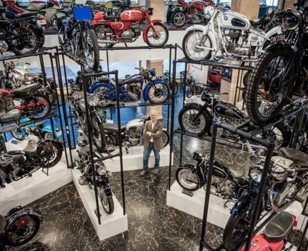 Nelson businessman Tom Sturgess in his New Zealand Motorcycle Collection museum. The collection is being shifted to Invercargill. PHOTO: SUPPLIED