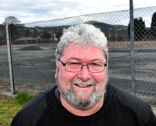 Mosgiel Taieri Community Board member Martin Dillon at the site where the new supermarket will be built. Photo by Peter McIntosh