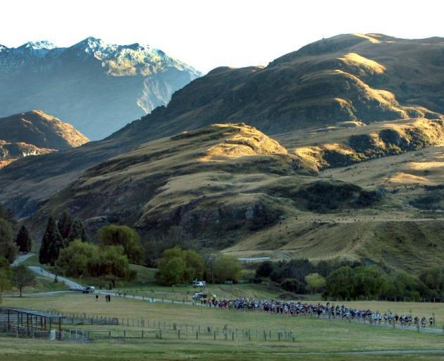 Runners tackle the Motatapu marathon. Photo: ODT