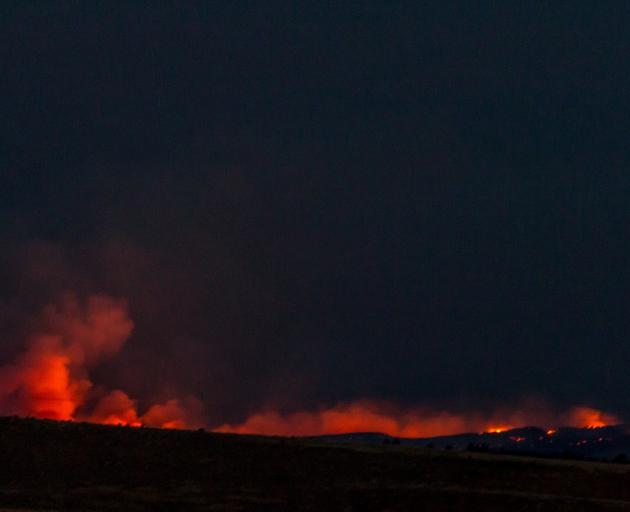 Fire and Emergency believes lightning strikes in tinder-dry conditions ignited the fire. Photo:...
