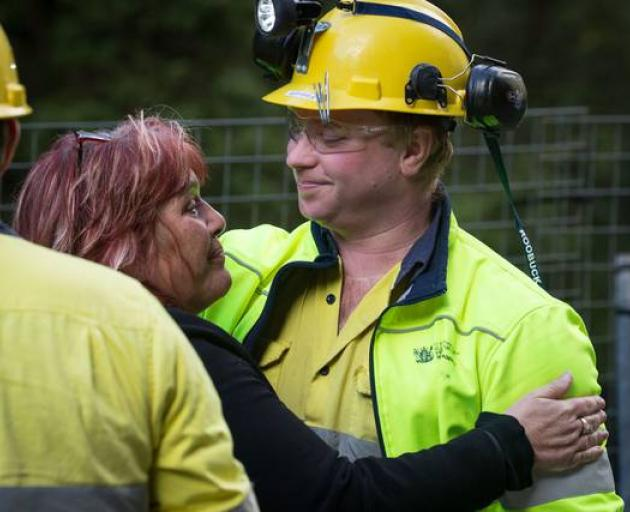 Family Reference Group Chair Anna Osborne and mine worker Shane McGeady. Photo: supplied
