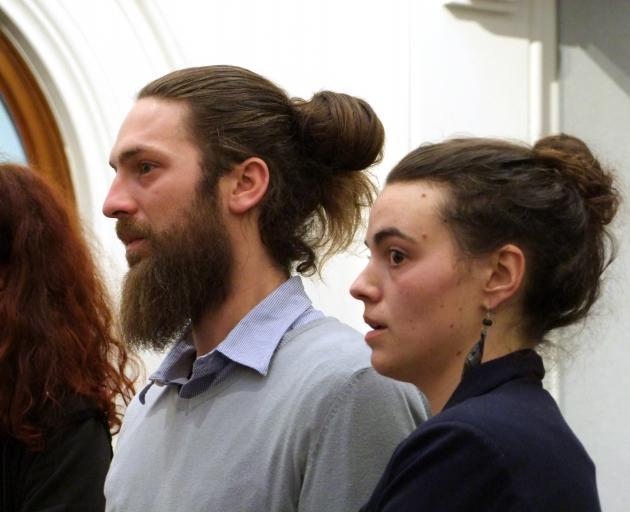 Antoine Therle and Lisa Peronnet in court this afternoon. Photo: Rob Kidd