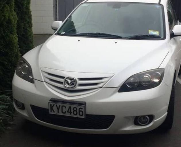 Police are appealing for sightings of Barbara Quinn's car. :Photo: supplied
