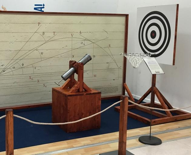 Galileo's interactive trajectory experiment. Photo: Artisans of Florence