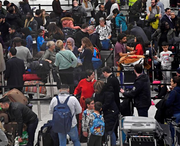 More than 100,000 Christmas travellers have been affected by delays. Photo: Reuters