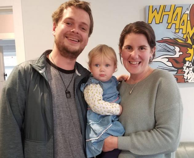 George and Emily with baby Olivia. Photo: Supplied
