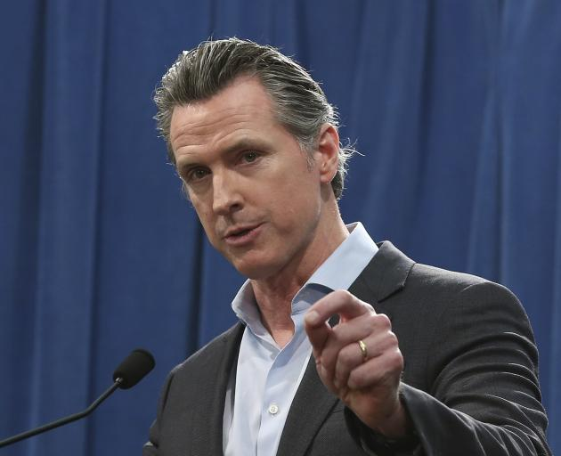 """California Governor Gavin Newsom: """"The intentional killing of another person is wrong"""". Photo: AP"""
