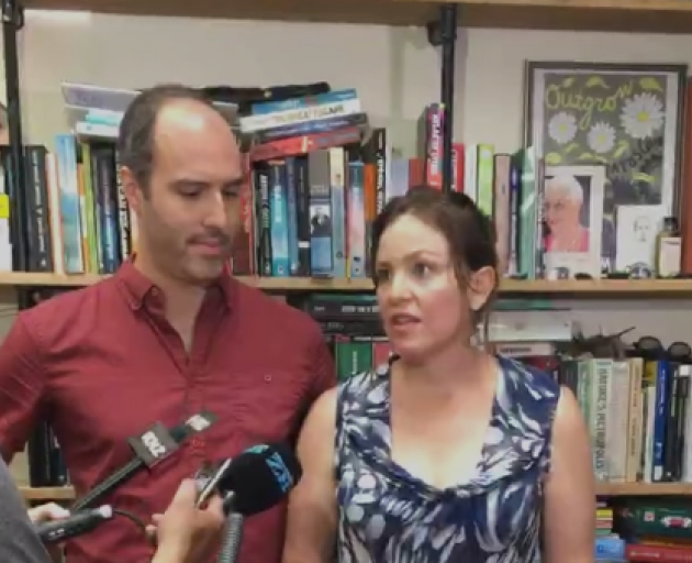 Julie Anne Genter with partner Peter Nunns. Image: NZ Herald