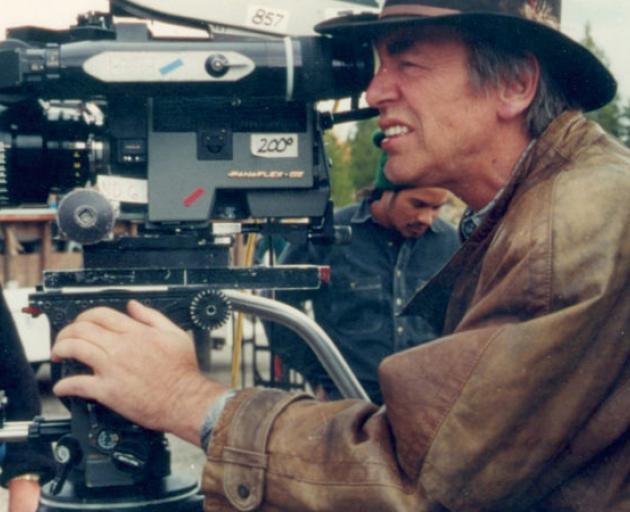 Geoff Murphy behind the lens. Photo: supplied via RNZ