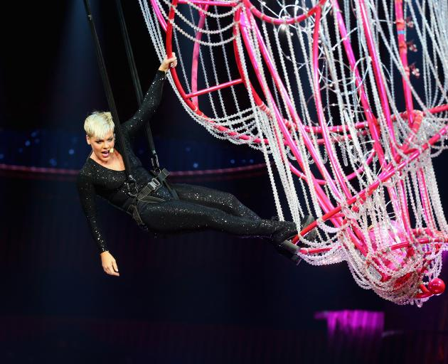 Pink performing in Sydney last month. Photo: Getty Images