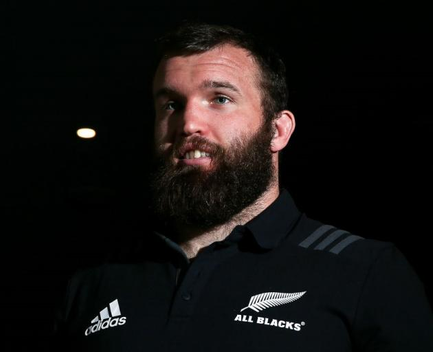 Liam Coltman has been named on the bench for the All Blacks for the Springboks test. Photo: Getty...