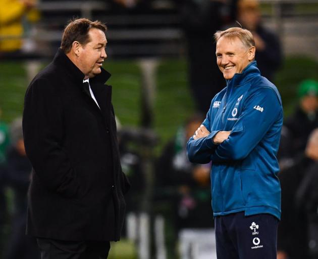 Steve Hansen and Ireland's head coach Joe Schmidt. Photo: Getty Images