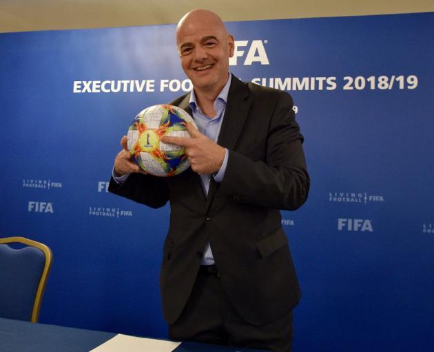 Gianni Infantino于2016年2月当选为国际足联主席。照片:Getty Images