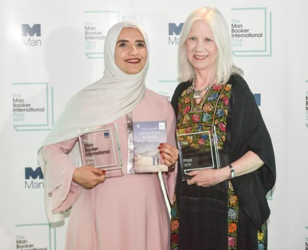 Jokha Alharthi with translator Marilyn Booth. Photo: Getty Images