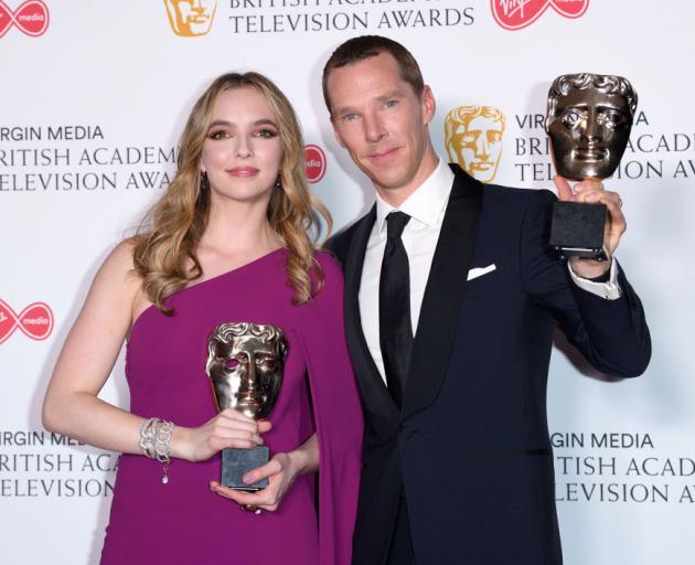 Bafta award-winners Jodie Comer and Benedict Cumberbatch. PHOTO: GETTY IMAGES