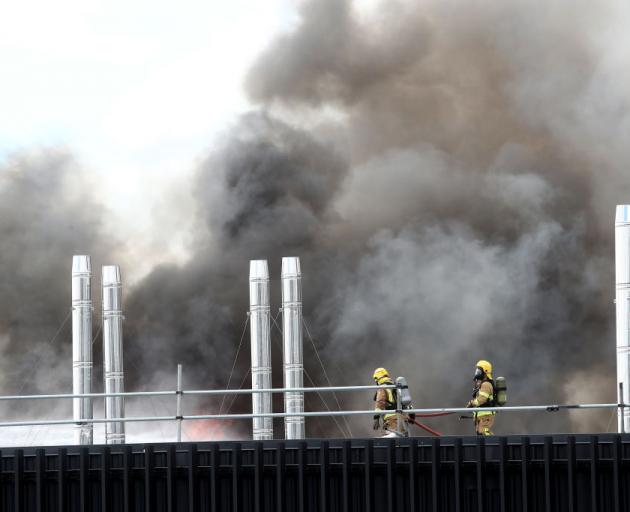 The blaze began on the convention centre's roof and spread to the sixth floor. Photo: Getty Images