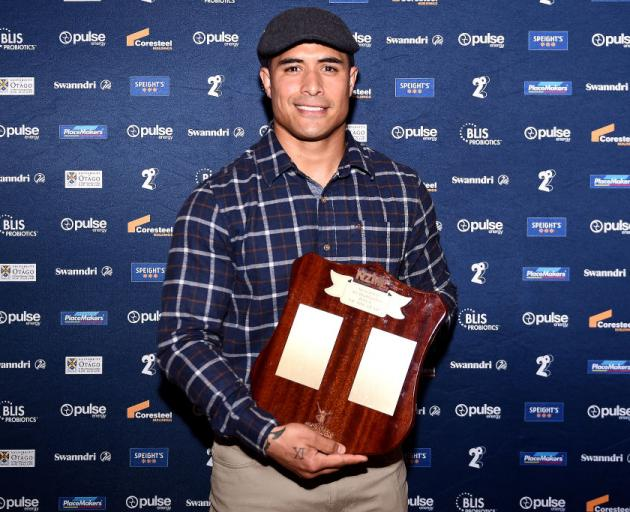 Aaron Smith was named Highlanders man of the year at the franchise's annual awards night at Toitu...