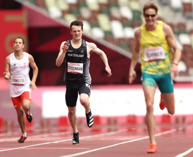 William Stedman raced to a bronze in the men's 400m T36 final at Olympic Stadium this afternoon....