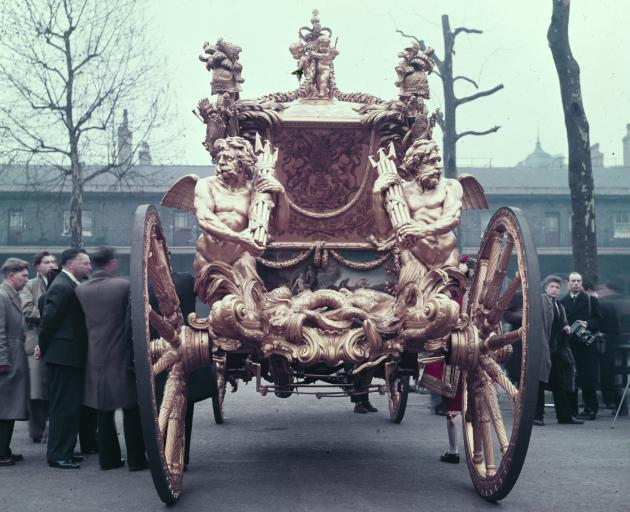 The four-tonne carriage was only sprung on leather and not very comfortable, the Queen said. Photo: Getty Images