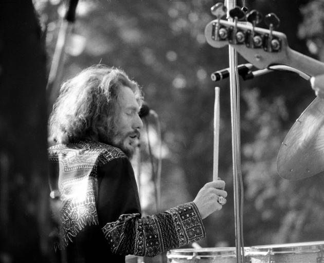 Ginger Baker performing with Blind Faith in 1969. Photo: Getty Images