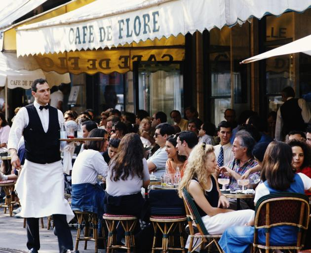 The popular Cafe de Flore on Boulevard St Germain. Photo: Getty Images