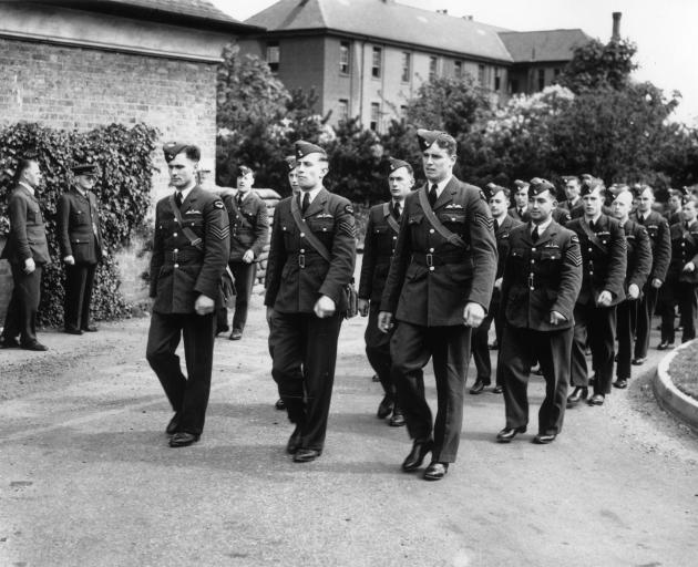 New Zealand airmen recently arrived in Britain train at an RAF base in May 1941. Photo: Getty Images