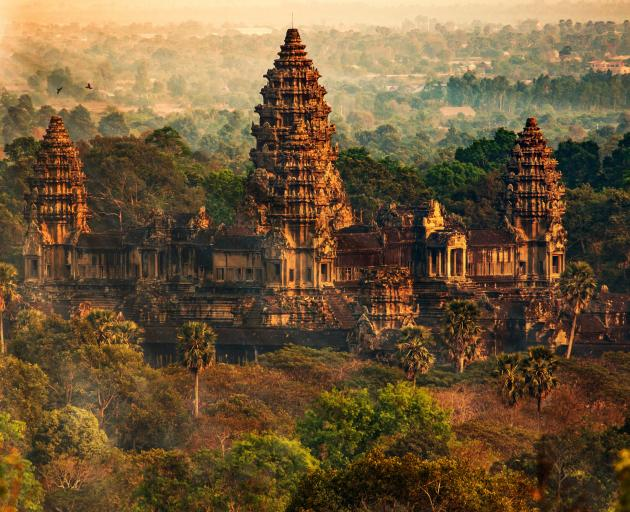 Between the 9th and 15th centuries, Angkor was the capital of the triumphalist Khmer empire...